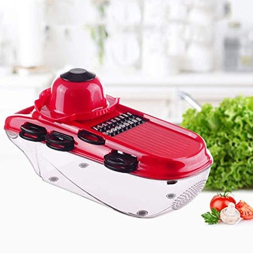 ZGYQGOO Food Chopper Gemüseschneider, Gemüseschneider mit 6 Stahlklinge Mandolinenschneider Kartoffelschäler Karottenkäsereibe Gemüseschneider Küchenzubehör