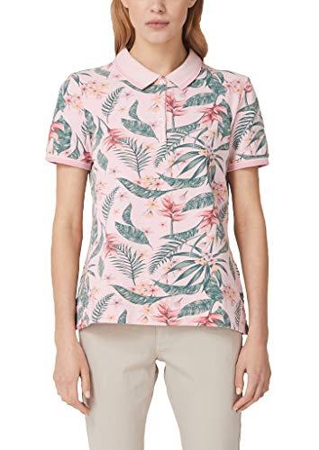 s.Oliver Damen Poloshirt mit Allover-Print Purple/pink AOP 40