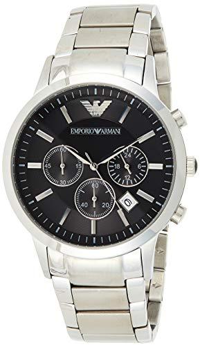 Emporio Armani Herren Chronograph Quarz Uhr mit Edelstahl Armband AR2434