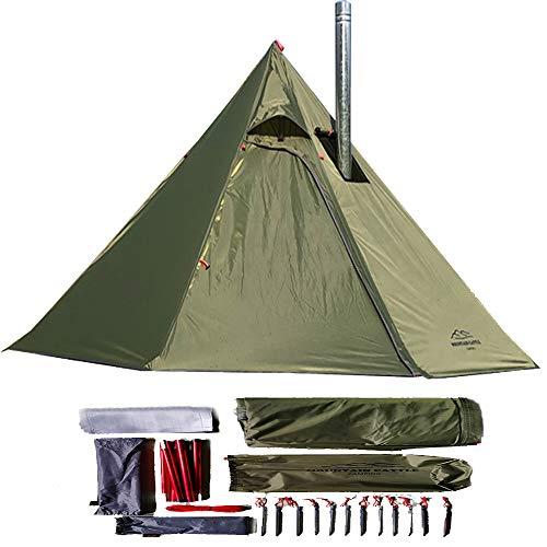 longeek Tipi-Zelte für 1-2 Personen, für Rucksackreisen, Camping, Wandern, beheizter Schutz, Rauchhütte, Schornstein, Hot Tipi, einfach aufzubauen