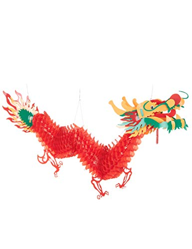 Generique - Décoration Dragon Rouge 2.5 m Nouvel an Chinois