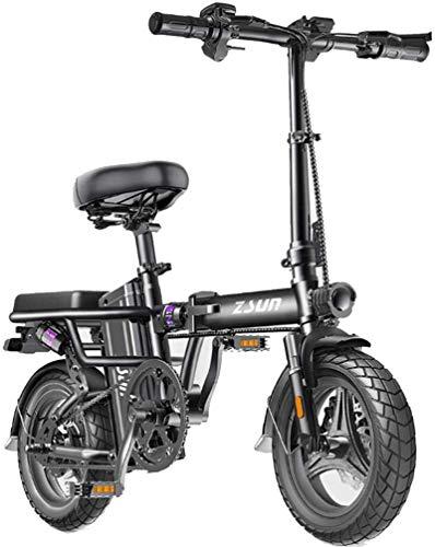 RDJM Bici electrica Plegable Bicicleta eléctrica for los Adultos, conmutar Ebike con 400W de Motor y de Carga USB eléctrico, Ciudad de Bicicletas Velocidad máxima 25 km/h