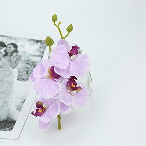 Kunstmatige vlinder orchidee boeket nep planten vaas voor thuis bruiloft decoratie sier bloempot goedkope zijden bloemen string, paars