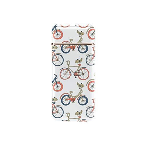 Encendedor a Prueba de Viento Rueda de Bicicleta Recargable Juego de Ciclismo Deporte Encendedor de Arco Recargable USB Recargable Arco a Prueba de Viento Encendedor sin Llama para Senderismo, mochil