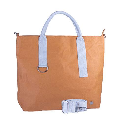 WOLA bolsos bandolera mujer ORIGAMI carteras de mano papel shopper vegano 41x33x11cm gris