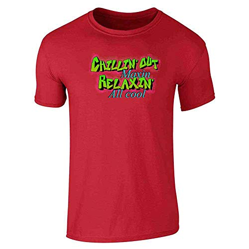 Chillin Out Maxin Relaxin All Cool 90s Retro Red M Graphic Tee T-Shirt for Men