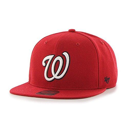 47 MLB Washington Nationals Sure Shot Captain Casquette de Baseball, Rouge, Taille Unique Mixte