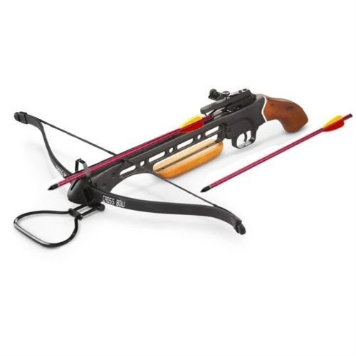 wood crossbow with scopes Rex New 150 lb Hunting Crossbow with Arrows/Bolts 150lb, Wood