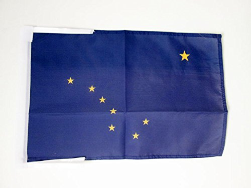 AZ FLAG Flagge Alaska 45x30cm mit Kordel - Bundesstaat Alaska Fahne 30 x 45 cm - flaggen Top Qualität