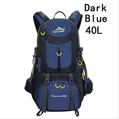 Generic Sac à dos d'extérieur 40 l 50 l 60 l imperméable pour randonnée et sports de plein air Convient pour le plein air, l'alpinisme, le cyclisme, la pêche, l'escalade, le camping Bleu foncé 40 l.