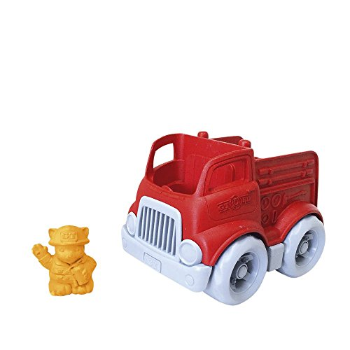 Green Toys Fire Engine, Red - Pretend Play, Motor Skills, Kids Toy Vehicle. No BPA, phthalates, PVC. Dishwasher Safe, Recycled Plastic, Made in USA.