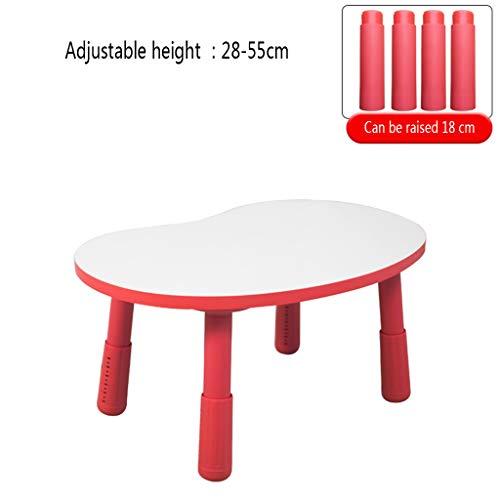 Children table and chairs Mesa para niños Mesa para bebés Mesa de Pintura fácil de Limpiar Escritorio para niños en Interiores y Exteriores y Mesa elevadora Azul Rojo
