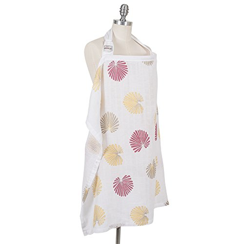 Product Image of the Bebe au Lait Premium Muslin Nursing Cover, Lightweight and Breathable, Open...