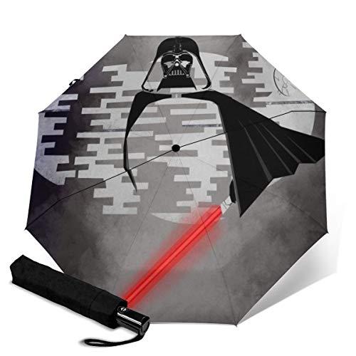Star Wars paraguas plegable de viaje paraguas plegable portátil resistente al viento...
