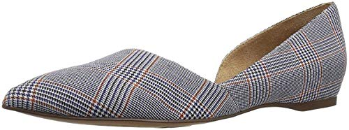 Naturalizer Women's Samantha Pointed Toe Flat, Blue Plaid, 10 M US