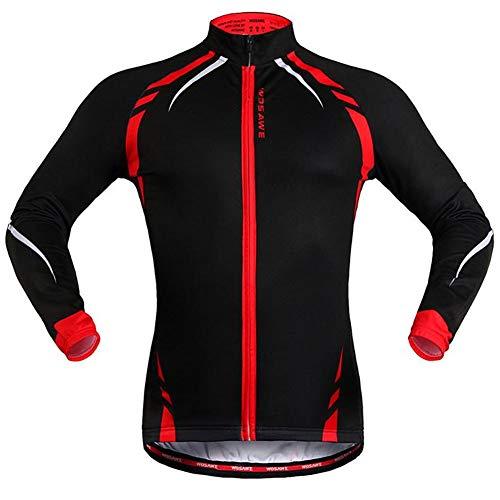 Yu$iOne Fahrradbekleidung Herbst Und Winter, Warm Halten Lange ÄRmel Radjacke, FüR MäNner Und Frauen Sportbekleidung,Red,M