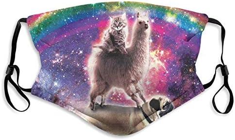 Cat Llama Pug Nachos Face Mask Unisex Balaclava Comfortable Washable Reusable Cloth Fashion product image