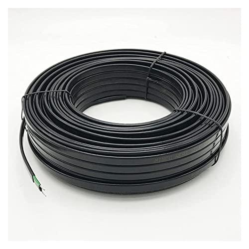 BOYUYO Cable Calefactor Anti Heladas para Evitar Que Se Hielen Las Tuberías con Las Heladas (220V~230V) Autorregulable No Hay Necesidad Termostato (Color : Ø12mm-30W/m, Size : 60m)