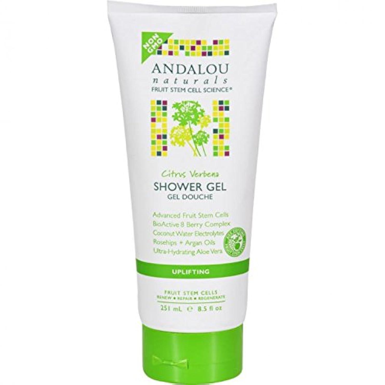 拳不屈アブストラクトShower Gel - Citrus Verbena Uplifting - 8.5 fl oz by Andalou Naturals