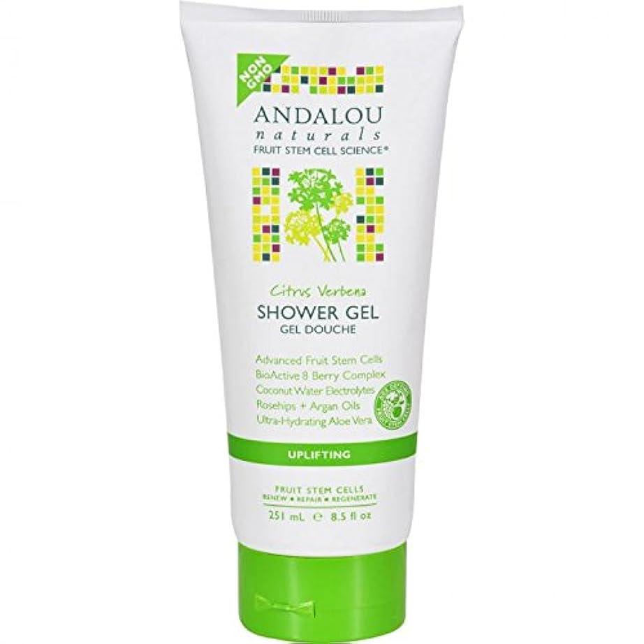 我慢する盟主知恵Shower Gel - Citrus Verbena Uplifting - 8.5 fl oz by Andalou Naturals