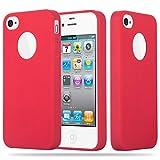 Cadorabo Coque pour Apple iPhone 4 / iPhone 4S en Candy Rouge – Housse Protection...