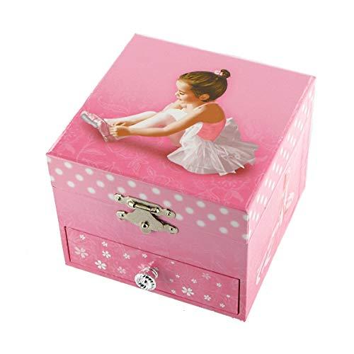 Caja de música para joyas / joyero musical de madera con cajon y bailarina bailadora (Ref: 22120) - El vals de Amélie Poulain - Amélie - El fabuloso destino de Amélie Poulain (Yann Tiersen)