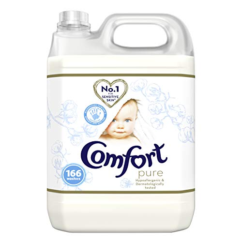Comfort Dermatologically tested Pure suitable for the whole family s clothes Fabric Conditioner gentle next to sensitive skin 166 Wash 5 l ( Packaging may vary)