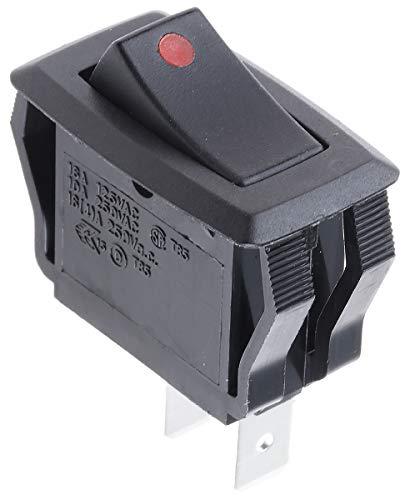 RS PRO ロッカースイッチ 黒/赤 419700