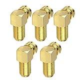 NiceCore Conector de ángulo F Cable Adaptador Antena Cable coaxial Chapado en Oro Conversión de Oro 5PCS