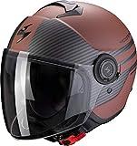 Scorpion Herren EXO-City Moda Brown-Matt Black L Motorcycle Helmets, L