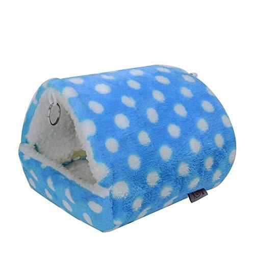 DEDC Kuschelhöhle Kleintierbetten Kleintier Winterhaus Kuschelbett warmes und weiches Haustier Nest 13 * 14 cm für Eichhörnchen, Chinchilla, Igel, Meerschweinchen, Papagei (blau)