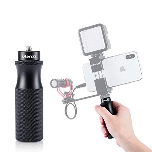 ULANZI Aluminum Vlog Handgrip Empuñadura de Video portátil con Tornillo de 1/4 '' para Sony RX0 II GoPro Hero 7 6 5 Cámara pequeña SJCAM para adaptadores de Montaje en trípode