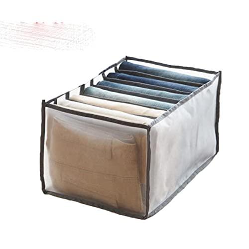 El armario de dormitorio más nuevo para calcetines, caja de almacenamiento de ropa interior separada para el hogar, cajonera plegable de 7 braer, gris 7 M, Francia