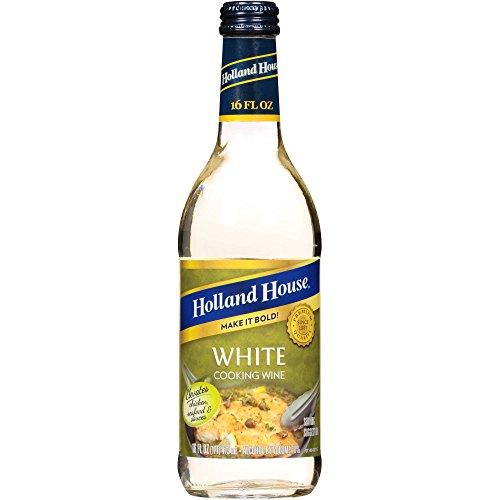 Holland House White Lemon Cooking Wine Glass Bottle, 16 oz
