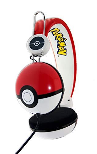 OTL Technologies Wired Pokemon Headphones - Poke Ball Design Ages 8 Upward