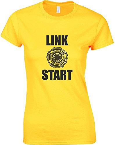 Brand88 Link Start, Mesdames T-Shirt imprimé - Daisy/Black L = 10-12