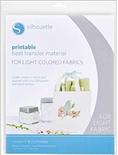 Silhouette HEAT-PRINT-LT Printable Heat Transfer Material for Light Fabrics
