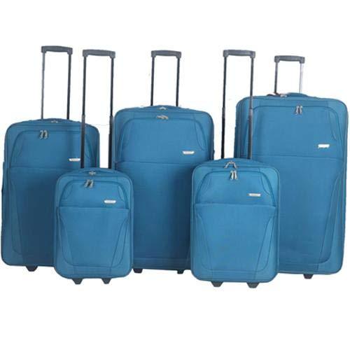 2 Wheel Upright Trolley Case Suitcase Travel Bag, Sports Bag, Holdall for Men Women, Storage Cargo Travel Shoulder Case Bags (Cabin, Teal)