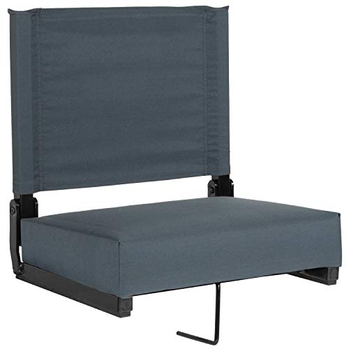 Flash Furniture Grandstand Comfort Seats by Flash with Ultra-Padded Seat in Dark Blue