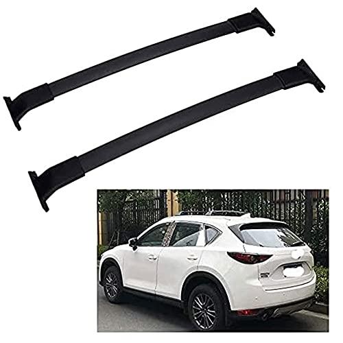Barra De Techo De Aluminio Para Mazda CX-5 CX5 2012-2020, 2 Piezas Barras Portaequipajes Para Coche Transporte De Carga AnticorrosióN Barra Transversal De Equipaje Para Techo