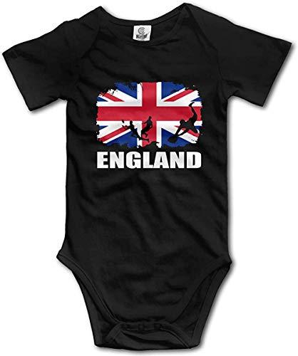 WlQshop Body Bébé Garçon Fille, England African Flag Football Rugby Newborn Baby Bodysuit Short Sleeve Infant Cotton Bodysuits