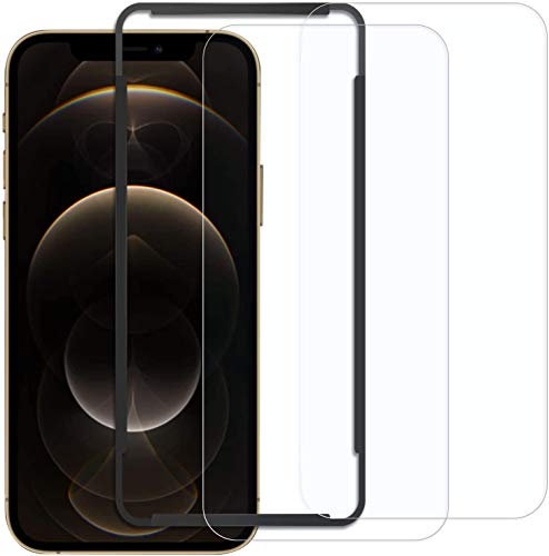 Naviurway 2枚入り iPhone 12 Pro Max 6.7インチ 用 強化 ガラスフィルム 防爆裂 自己吸着 飛散防止 指紋防止 撥水 旭硝子9H 貼付道具付