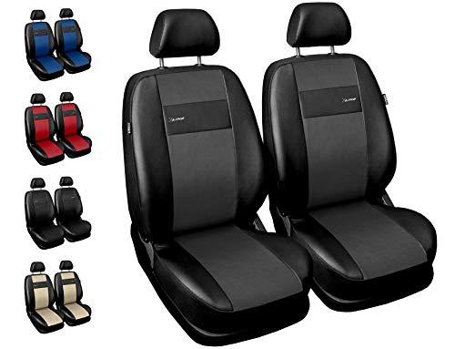 Carpendo Sitzbezüge Auto Vordersitze Autositzbezüge Schonbezüge Vorne - Airbag geeignet - X-Line - Grau