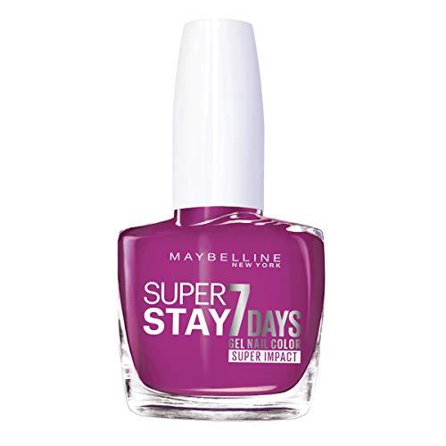 Maybelline Superstay 7 Días Tono 180 Rose Fuchsia Pintauñas Larga Duración Efecto Gel Color Rosa