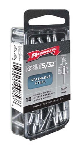 Arrow RSST5/32 Short Stainless 5/32-Inch Rivets, 15-Pack by Arrow Fastener (English Manual)