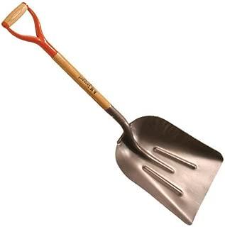 A.M. Leonard Steel Scoop Shovel with D-Grip Handle - Size 10