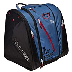 """SPACIOUS – 72L, Extra tall, front loading performance ski boot bag backpack for alpine ski boots, helmet, gear, braces and armor. DIMENSIONS - 21.5""""H (boot pockets) x 15.5""""L x 19""""W. DURABLE – Built to last with super durable, water resistant 840D nyl..."""