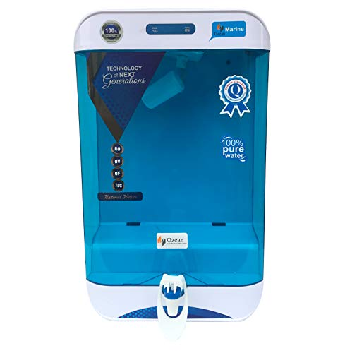Ozean Marine 10 LTR RO UV TDS Mineral Electric RO Water Purifier with Installation Kit with Free Dust Protection Cover (Green)