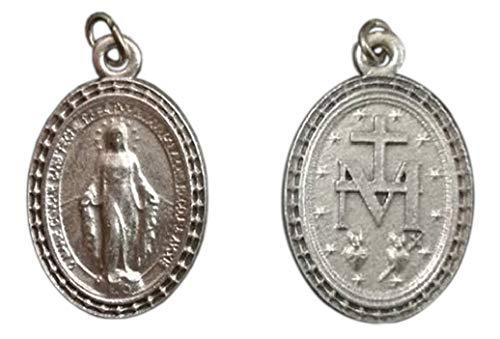 Eurofusioni Medalla Milagrosa chapeada Plata- H 2,6 cm - 10 Piezas