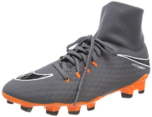 Nike Herren Hypervenom Phantom 3 Academy DF FG AH726 Fußballschuhe, Grau (Dark Greytotal Orangewhite 081), 42 EU